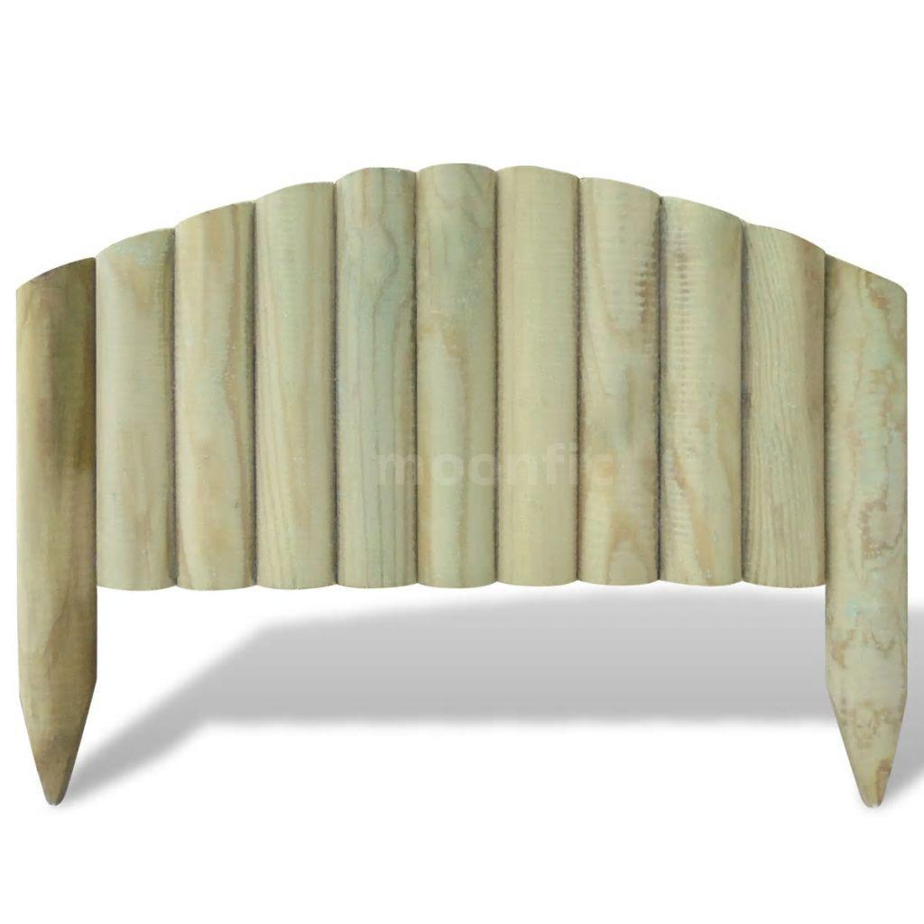 Détails sur Lot de 10 bordures de jardin en bois 55 cm design arche C2R8
